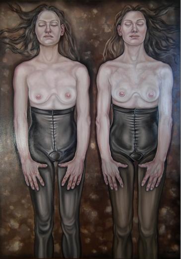 27. La petite mort, 2018, olej, płótno, 140x100 cm