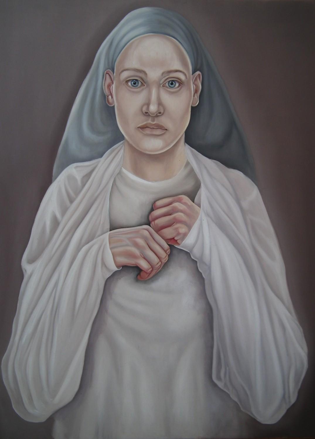 19. Schizofreniczna Madonna, 2017, olej, płótno, deska, 80x60 cm, kolekcja prywatna
