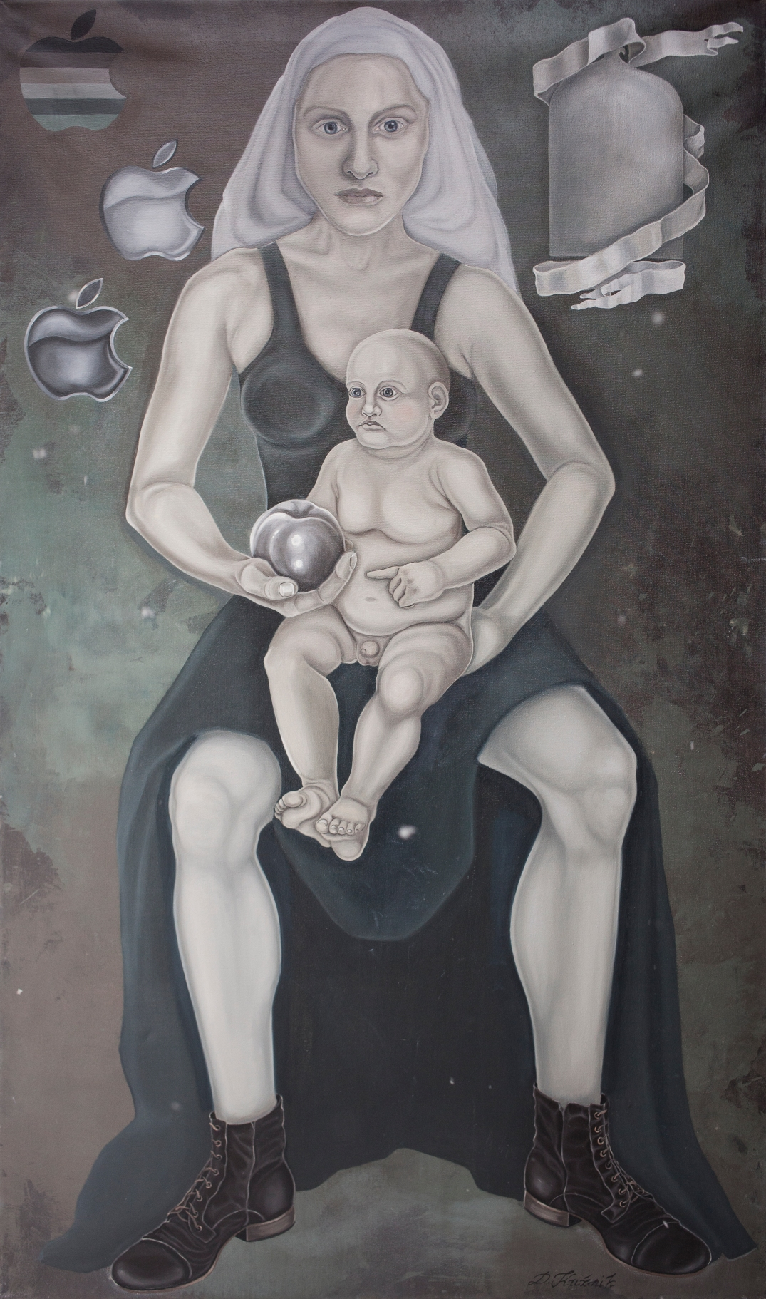 25. Digital love, z cyklu Współczesne Madonny 120x80 cm, kolekcja prywatna