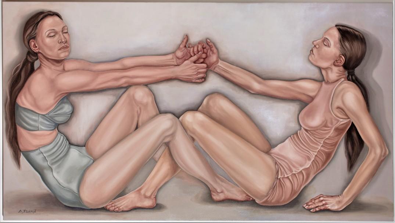 29. z cyklu Comme des garcons, 2019, olej, płótno, 90x160 cm