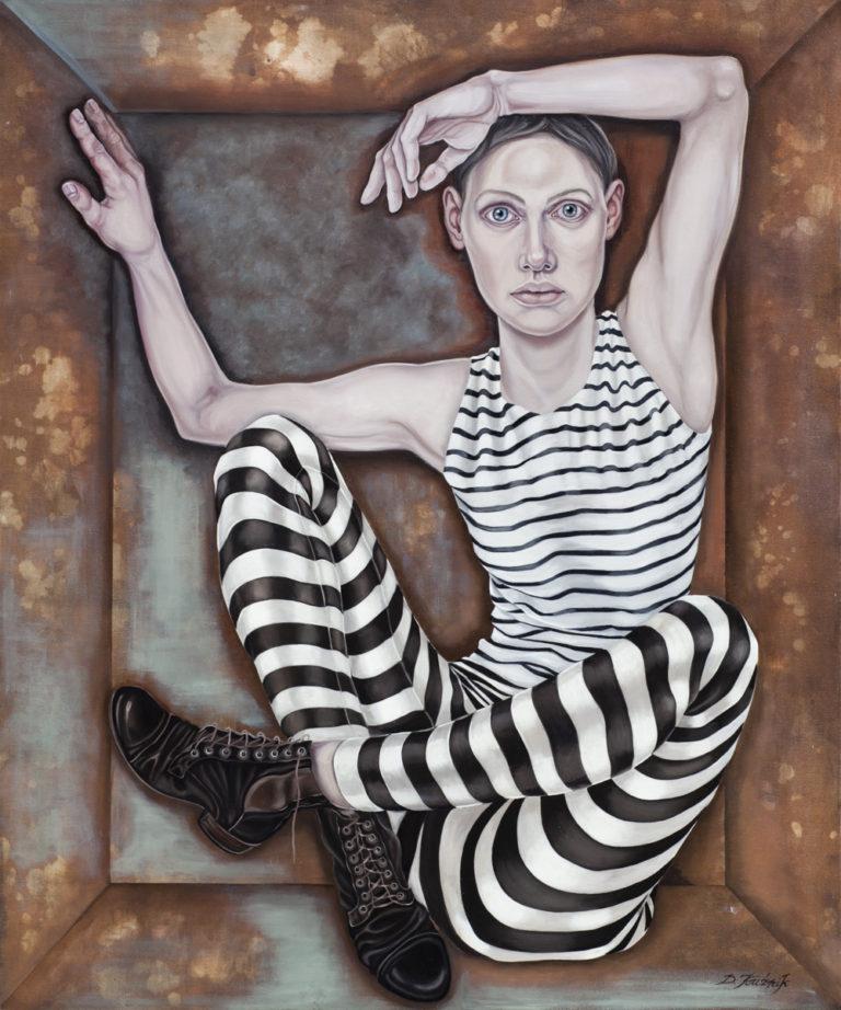 3. Androgyne, z cyklu Comme des garcons, 2017,olej, płótno, 120x100 cm, kolekcja prywatna