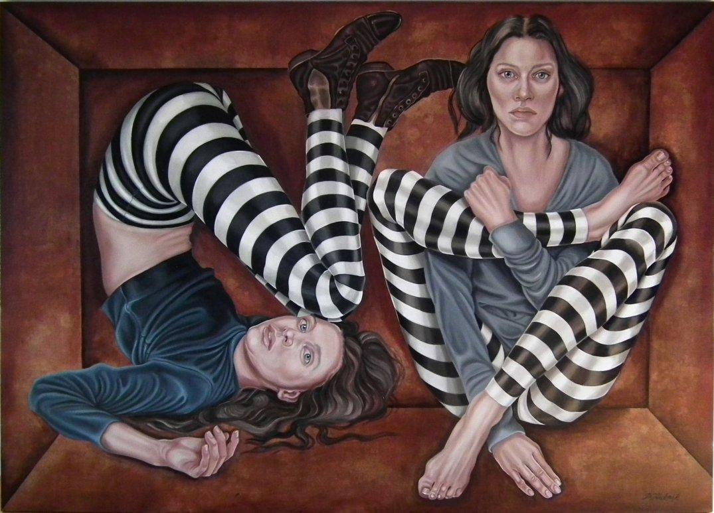 33. Simple pleasures, z cyklu Comme des garcons, 2019, olej, płótno, 100x140 cm