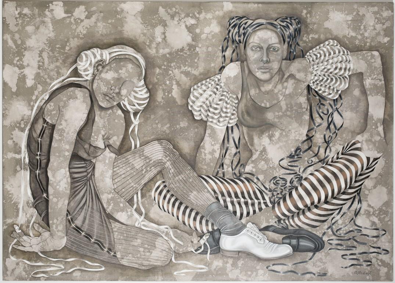 37. z cyklu Comme des garcons, 2019, olej, płótno, 100x140 cm