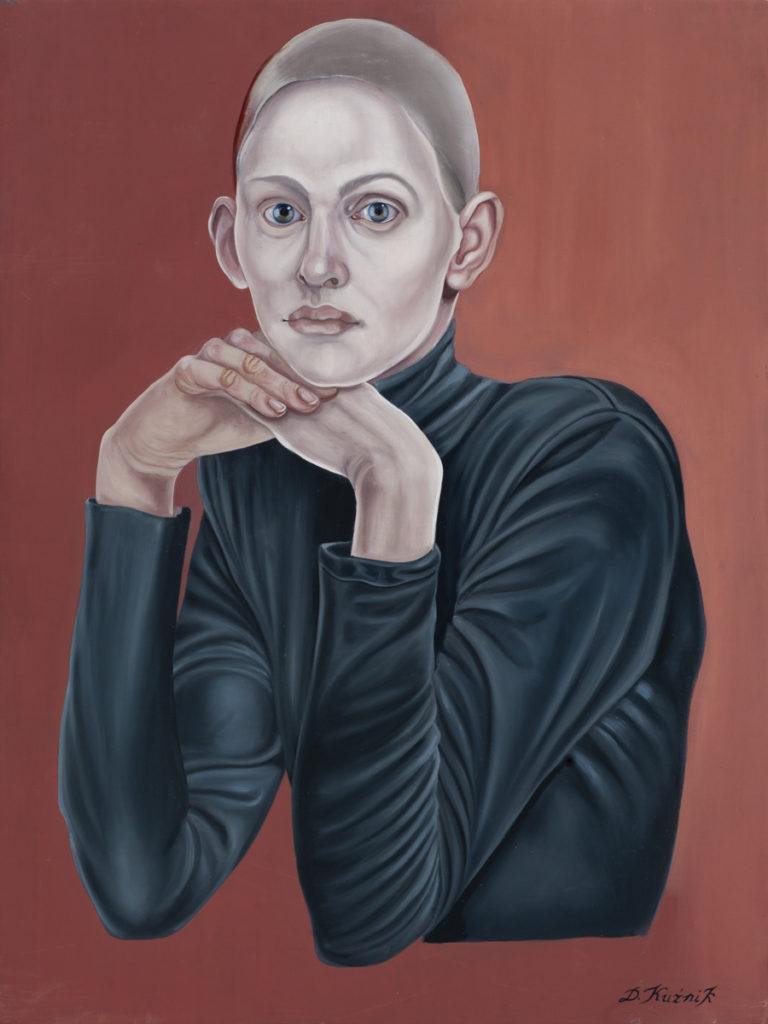 4. Dolorosa, z cyklu Współczesne Madonny, 2017, olej, płótno, deska, 80x60 cm, kolekcja prywatna