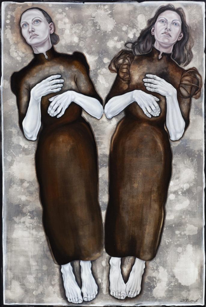 5. z cyklu Hidden children-hidden mothers,2018, olej, płótno, 150x100 cm